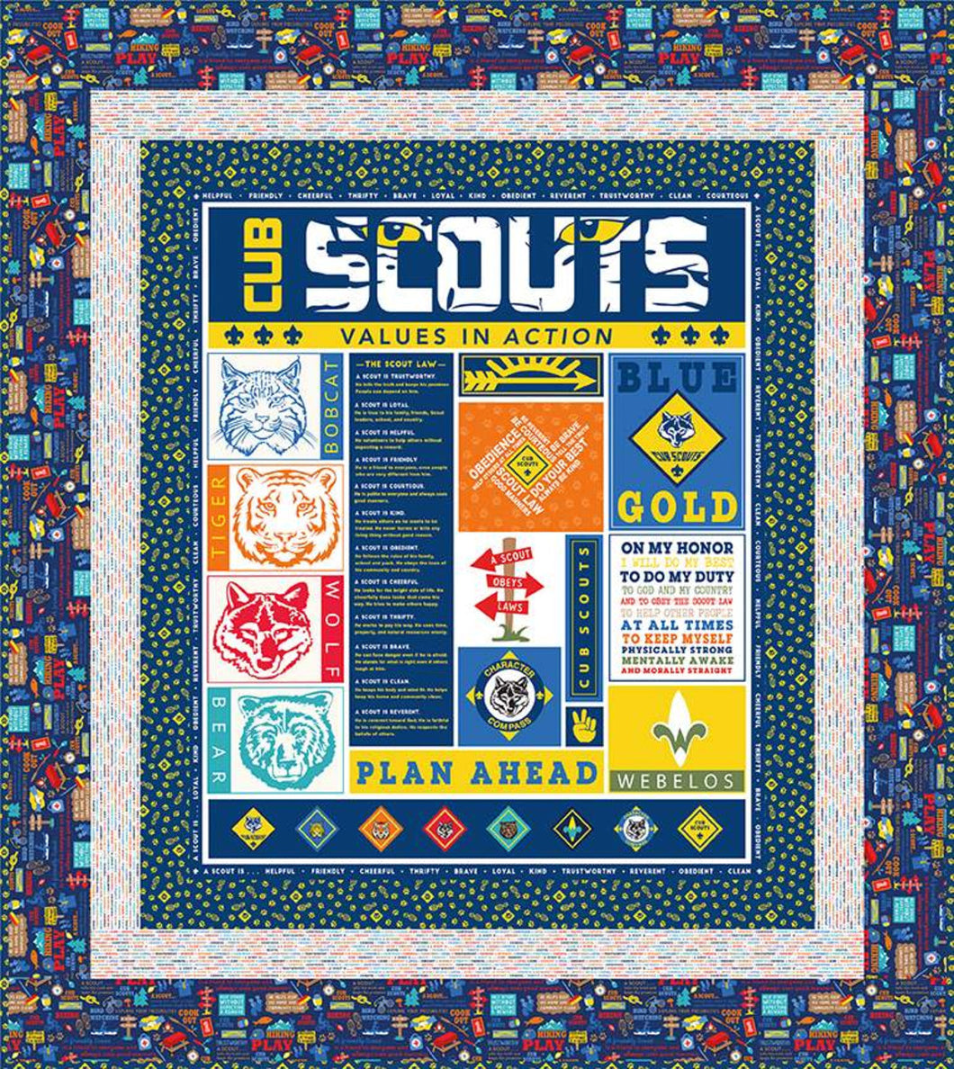 Cub Scout Quilt Kit by Riley Blake Designs // Kits