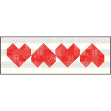 Load image into Gallery viewer, Arrow Heart Quilt and Table Runner Pattern