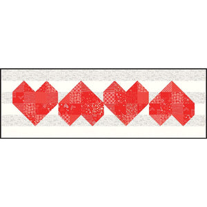 Arrow Heart Quilt and Table Runner Pattern Pre-Order