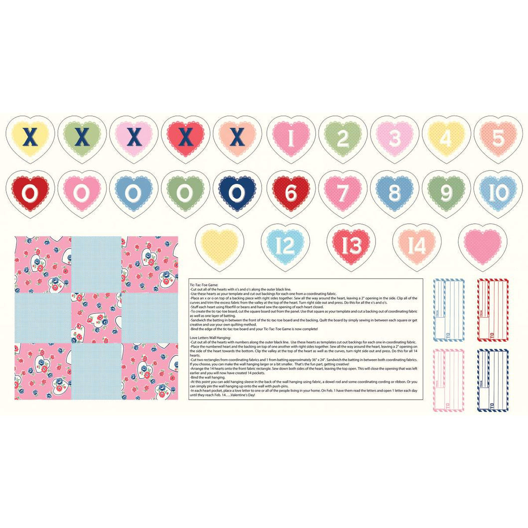 Tic Tac Toe & Valentine Countdown Panel // Love Letters