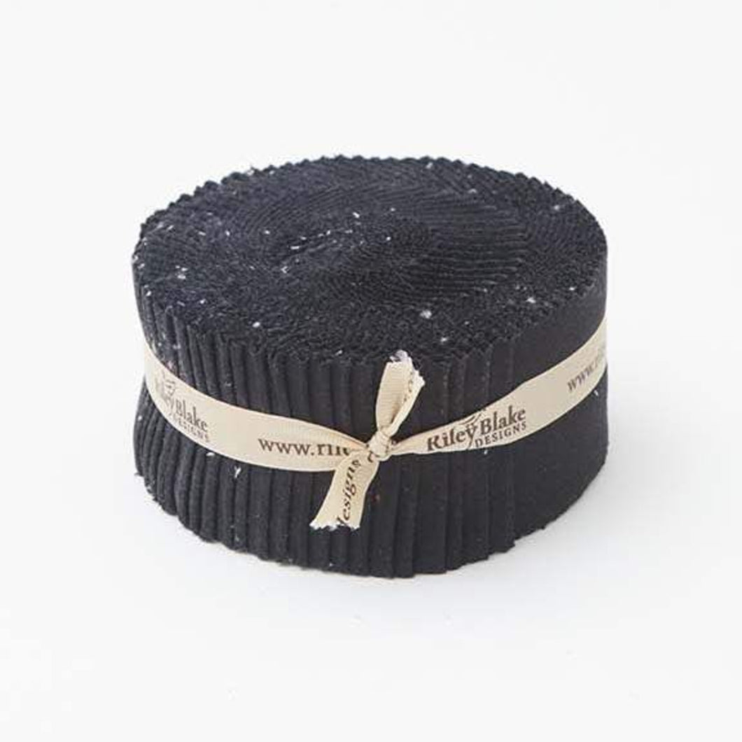 Riley Black Confetti Cottons  // Precuts 2.5 inch strips Rolie Polie
