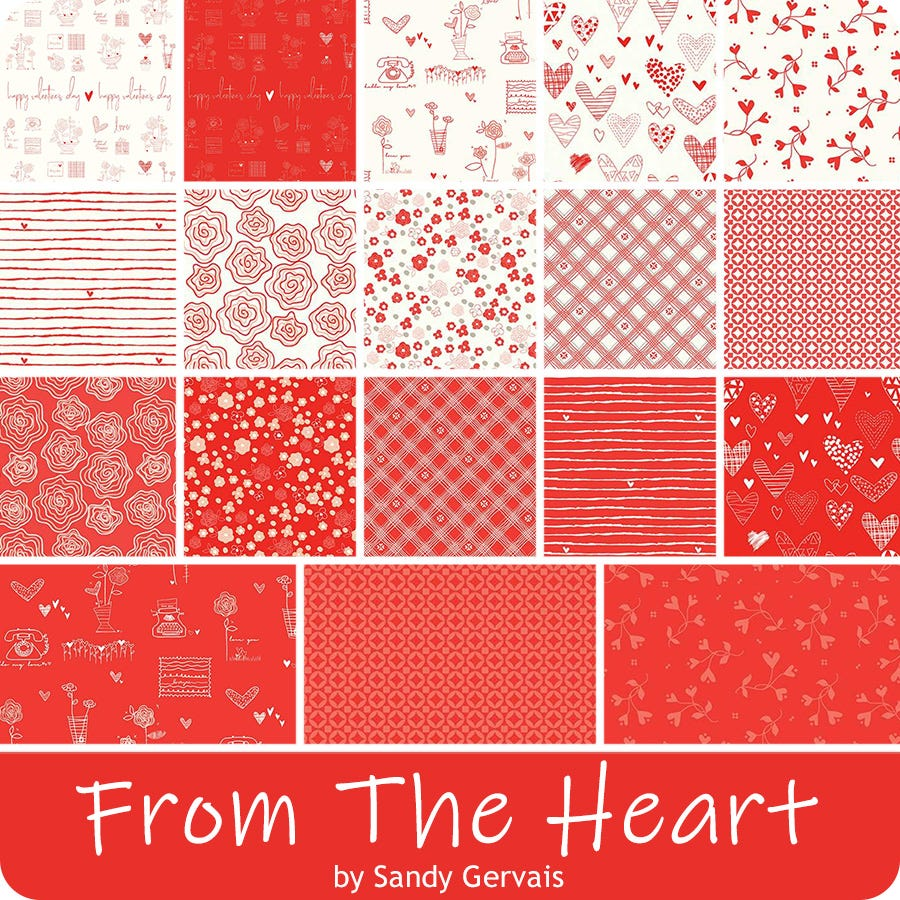 From the Heart // Precuts FQ Bundle