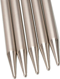 "Double Pointed Needles DPN 6"" inch (15cm) // stainless & bamboo"