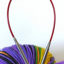 "Load image into Gallery viewer, 9"", 12"" & 16"" Knit RED Fixed Circulars // stainless steel"