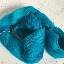 Load image into Gallery viewer, Tropical Water | Lace Merino Turquoise Aqua Blue Ocean Caribbean Bright Vacation Semi Solid Tonal Single 1-ply wool / Indie Hand Dyed