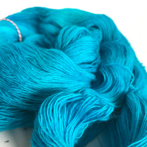 Tropical Water | Lace Merino Turquoise Aqua Blue Ocean Caribbean Bright Vacation Semi Solid Tonal Single 1-ply wool / Indie Hand Dyed