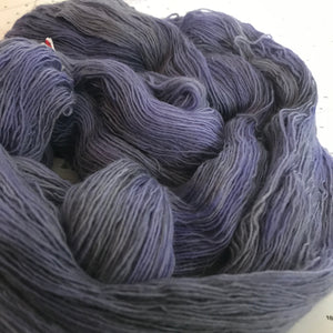Dusk | Lace Merino Purple Grey Gray Blue Violet Charcoal Light Cold Shades Semi Solid Tonal / Single 1-ply wool / Indie Hand Dyed In Stock