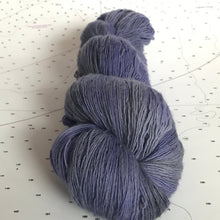 Load image into Gallery viewer, Dusk | Lace Merino Purple Grey Gray Blue Violet Charcoal Light Cold Shades Semi Solid Tonal / Single 1-ply wool / Indie Hand Dyed In Stock