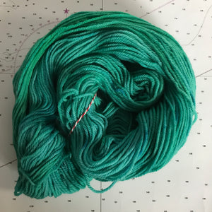 Mermaid | Worsted Merino Teal Green Blue Ocean Lagoon Sea Summer Nautical Semi Solid Tonal Superwash Wool / Indie Hand Dyed Ready to Ship