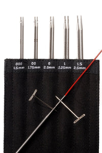 "5"" (13cm) Mini Interchangeable Knitting Tip Set by ChiaoGoo 