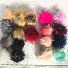 Load image into Gallery viewer, Faux Fur Pom Pom // elastic attachment