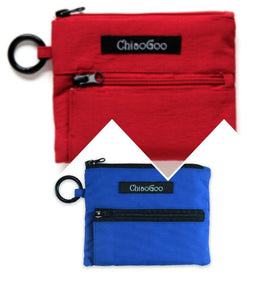 Shorties Nylon Accessory Pouch in Red or Blue