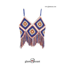 Load image into Gallery viewer, Exclusive Handmade Fringe Crochet Top