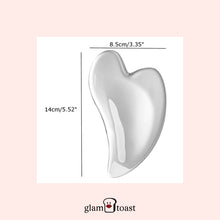 Load image into Gallery viewer, Glam Restorer Gua Sha Spa Tool - Resin Clear