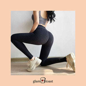 Anti-Cellulite x Scrunch Booty Leggings - Ninja Black