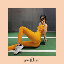 Load image into Gallery viewer, Anti-Cellulite x Scrunch Booty Leggings - Sunshine Yellow