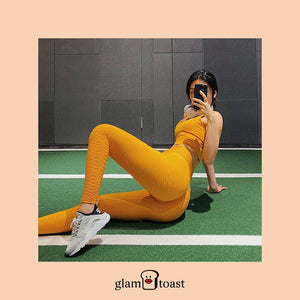 Anti-Cellulite x Scrunch Booty Leggings - Sunshine Yellow