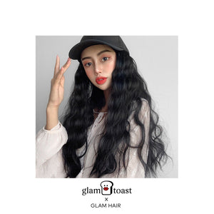 Ready-to-wear Glam Wig Cap - Jet Black