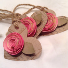Gift tag with hand painted rose.