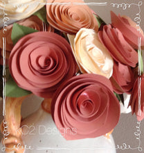 Paper flowes.  Fall flowers. Thanksgiving centerpiece.  Wedding centerpiece. Large flowers. Thanksgiving decor. blush flowers. YOUR COLORS.