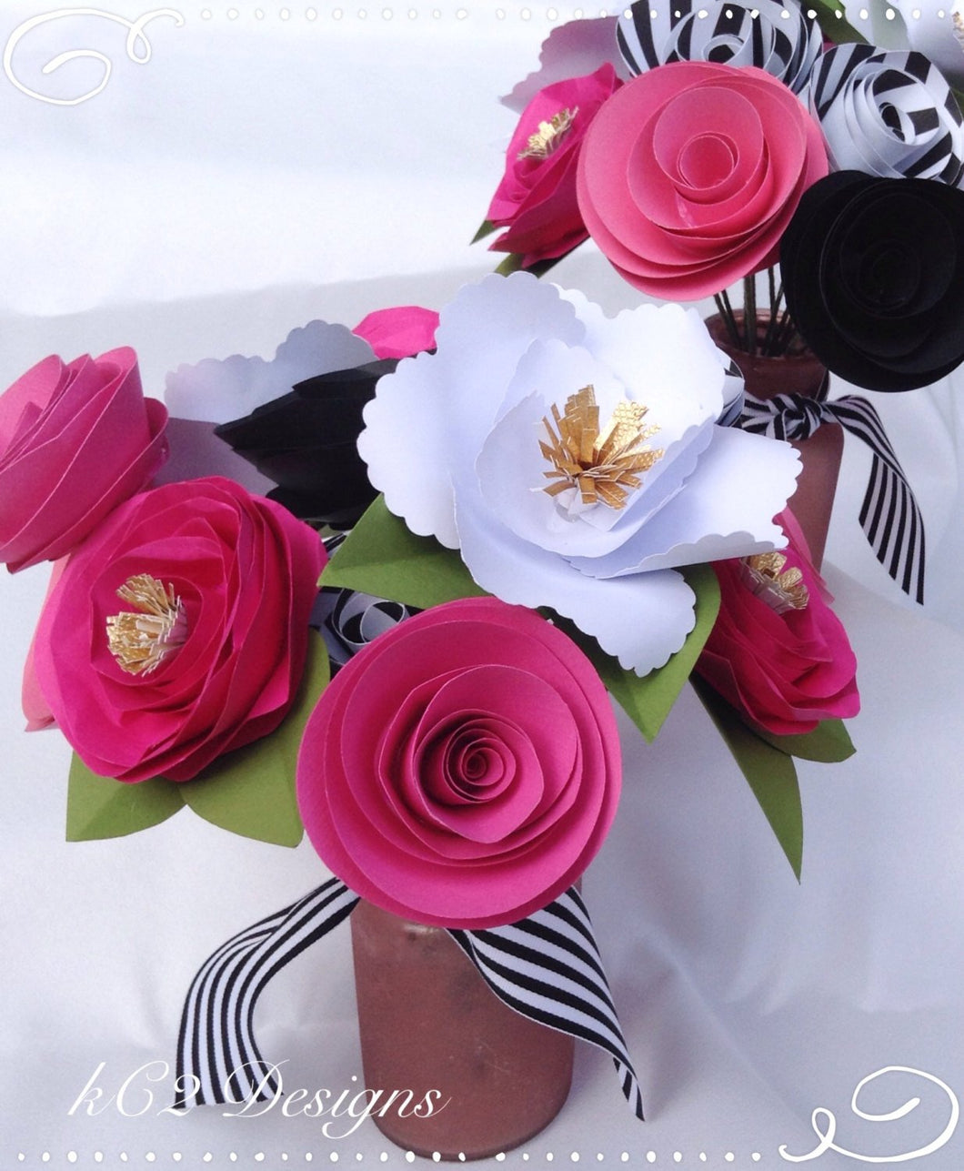 Paper Flowers Kate Spade Inspired Bridal Bouquet Centerpiece