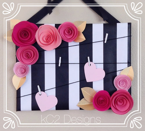 Note board. Kate Spade Inspired. Message board. Note board. Prayer board. pink flowers. Gold flowers. 2020 trends. room decor.