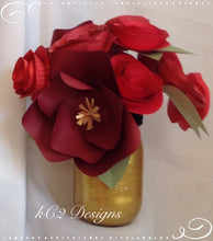 Paper flowers. Valentines Day. centerpieces table numbers. Mothers Day red roses baby girl rustic wedding ceramic vase paper rose rustic
