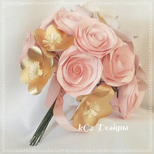 Paper Flowers. Rose gold wedding. Set of paper roses. Wedding centerpiece. Bridal bouquet. YOUR COLORS. Rustic wedding. blush wedding.