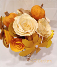 Fall Paper flowers. Thanksgiving Centerpiece. Rustic wedding. Gift idea.  flowers. hospital gift. YOUR COLORS. Thanksgiving decor. Yellow.