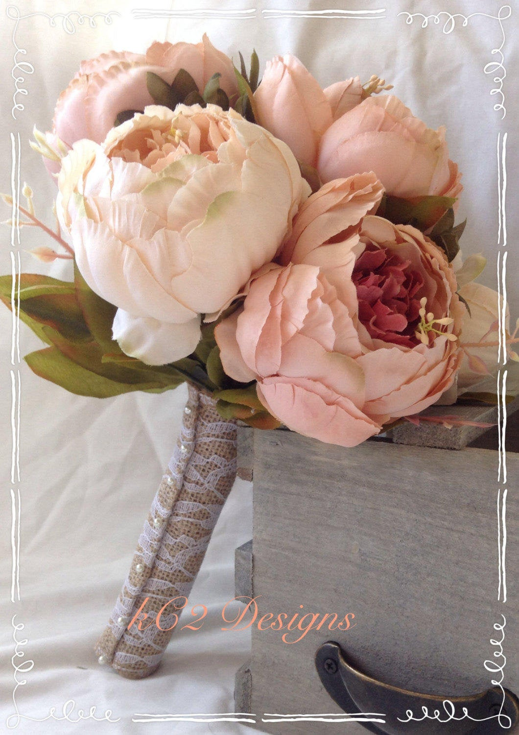 Silk flower wedding bouquet. Silk bouquet. Bridal bouquet. YOUR COLORS. Blush bouquet. Peony bouquet. Silk peony. Blush wedding. 2019 colors