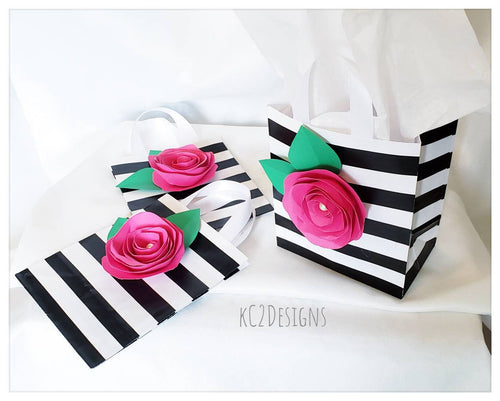 Kate Spade Inspired gift bags. Gift bags. party bags. Party Favor bags. Bridal Shower favors. Birhtday Party favor bags. Kate Spade Inspired