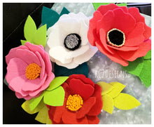 Kate Spade Inspierd.  Flower magnet. felt flower. wedding favor. place cards. escort cards. party favors. magnet set. gift. YOUR COLORS.