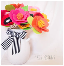 Kate Spade Inspired. Felt flowers. Hospital Gifts. Holiday Gifts. Colorful flowers. summer flowers. cneterpeice. bridal flowers. bridesmaid.