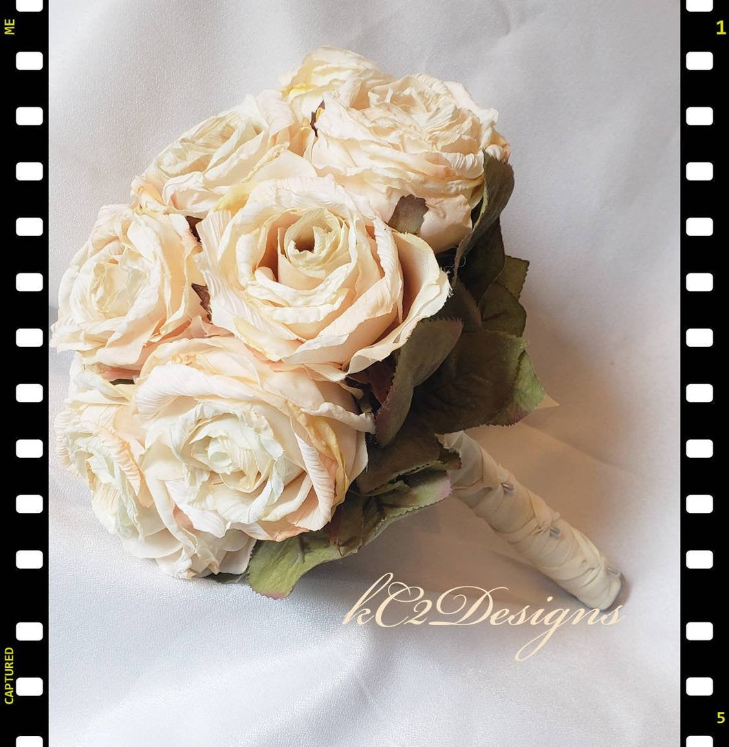 Silk wedding bouquet. Silk bouquet. Bridal bouquet. YOUR COLORS. Blush bouquet. rose bouquet. Silk rose. vintage wedding. 2020 trends