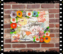 Message board. Prayer board. Note board. Prayer board. floral decor. felt flowers. Cubicle Office decor. Dorm room. 2019 trends. YOUR COLORS