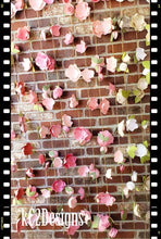 Party Garland. Paper Flower Garland. blush garland. Wedding Garland. photo backdrop. cake smash backdrop. ivory garland. paper flowers.