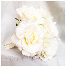Silk flower wedding bouquet. Silk bouquet. Bridal bouquet. YOUR COLORS. white bouquet. rose bouquet. Silk roses. classic wedding. 2019.