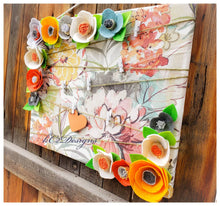 Cork board. Message board. Note board. Prayer board. floral decor. felt flowers. Cubicle Office decor. Dorm room. 2019 trends. YOUR COLORS