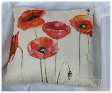 Pillow case. Red poppies.  Poppy. Morhers Day gift. Home decor. Poppy theme. Room docor. Throw pillow case. Sofa decor. Fun mail. Gift idea.