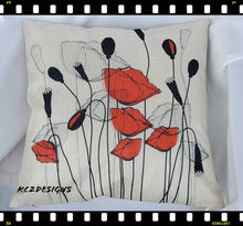 Throw pillow. Red Poppy pillow. Poppies. Red Poppy. Summer pillow. Decorative pillow. Poppy flowers. Throw pillow. Pillow. Red poppies.