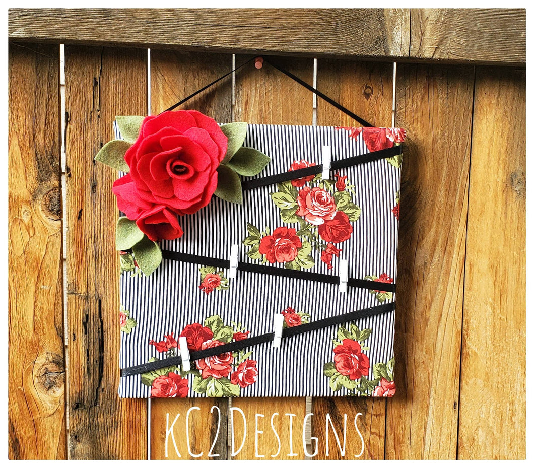 Kate Spade Inspired note board. Message board. Note board. Prayer board. Red flowers. 2020 trends. college dorm. YOUR COLORS. Fabrics boards