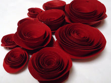 Paper flowers. Paper roses. Pink roses. Cardstock roses. Card stock flowers.
