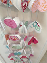 Paper garland. Heart Garland. Paper heart. Party garland. Birthday party. Girls party. Girls decorations. Valentines day. Peace sign.