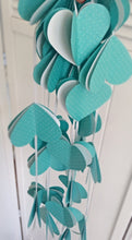 Paper garland. Heart Garland. Paper heart. Party garland. Birthday party. Teal wedding.  Party decor. Wedding decor. Teal hearts.