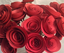 Paper roses. valentines Day roses. Red roses. wedding centerpeices. Wedding bouquet. Valentines day. Mothers Day Flowers.