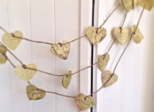 Party Garland. Paper garland. Heart Garland. Paper heart. Rustic wedding. Party garland. Birthday party. Valentines day. Vintage style.