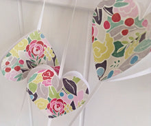 Paper garland. Heart Garland. Paper heart. Rustic wedding. Party garland. Birthday party. Flower garland.