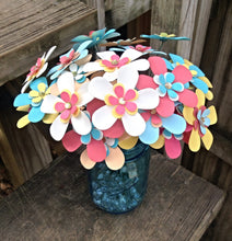 Paper daisies. YOUR COLORS. beach wedding. wedding centerpiece. wedding bouquet. Retro paper daisies. Rustic wedding. Spring flowers.