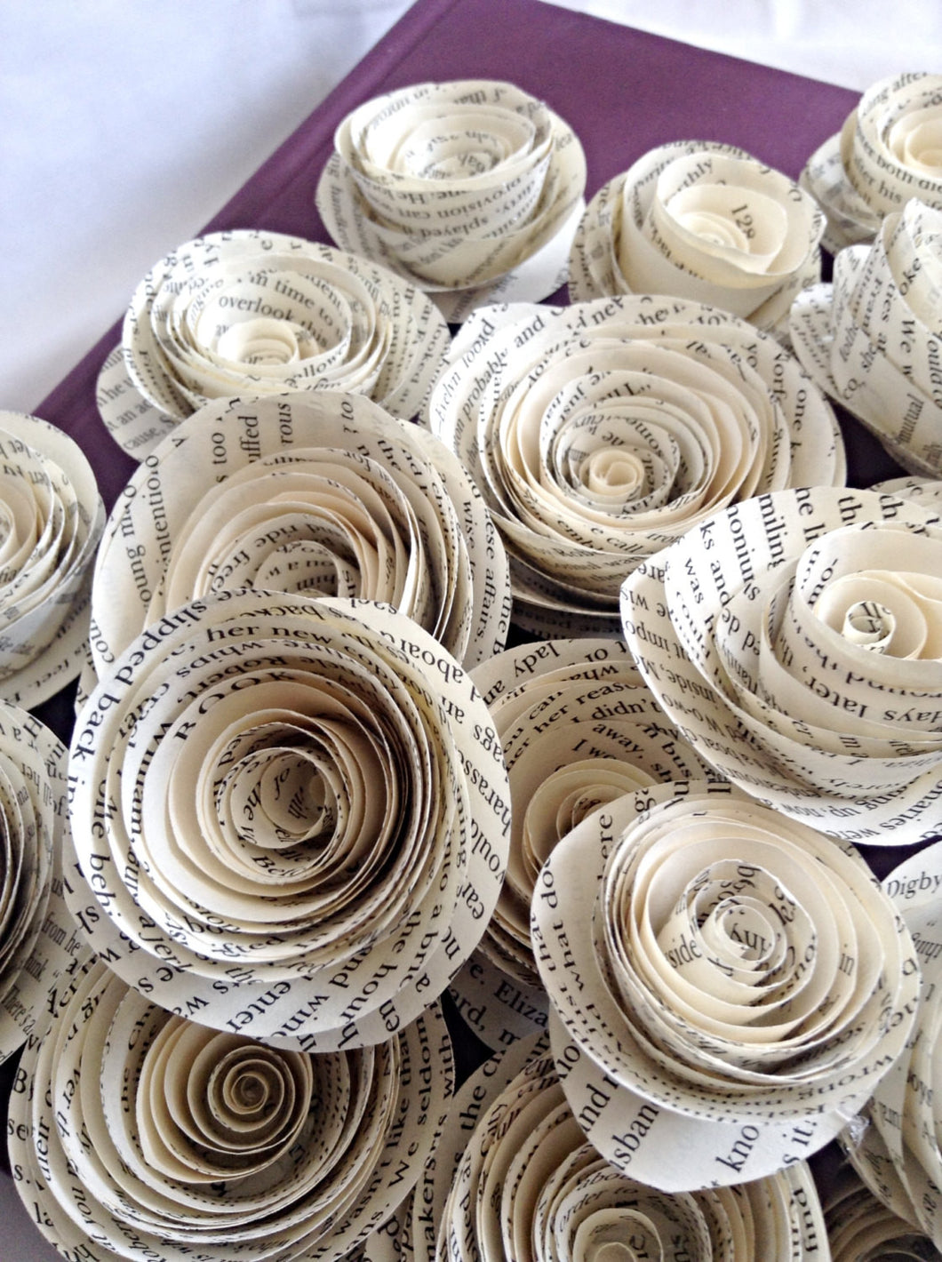 set of 30 paper roses wedding flowers centerpieces paper