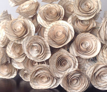 Book page roses. Set of 30 tea stained paper roses. Wedding centerpiece. Vintage flowers. Thanksgiving decor. Christmas decor